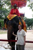 Jess with Elephant