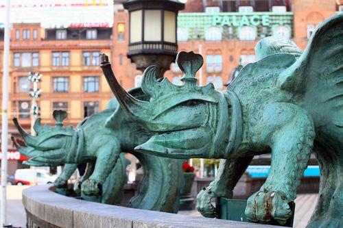 Copenhagen - Town hall - statues